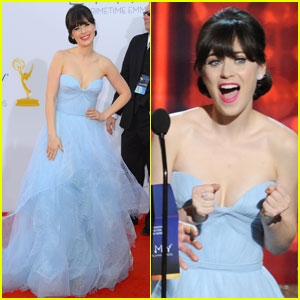 Zooey Deschanel - Emmys 2012 Red Carpet