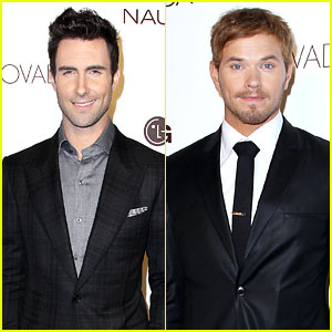 Adam Levine & Kellan Lutz: GQ Gentlemen's Ball 2012!