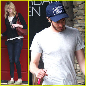 Andrew Garfield Wears Emma Stone's 'Gangster Squad' Hat!