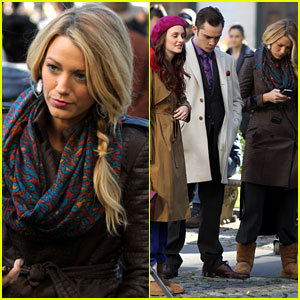 Blake Lively: 'Gossip Girl' Set with Leighton Meester & Ed Westwick!