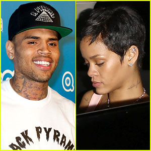 Chris Brown & Rihanna Leave Same Party Separately