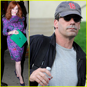 Christina Hendricks &#038; Jon Hamm: Separate Los Angeles Outings!