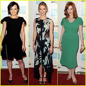 Elisabeth Moss & January Jones: Peace Over Violence Humanitarian Awards!