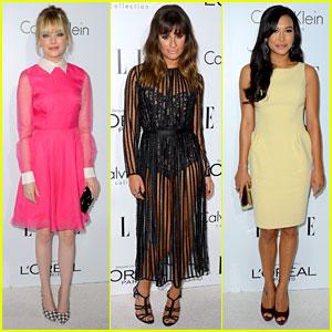 Emma Stone & Lea Michele - Elle Women in Hollywood 2012