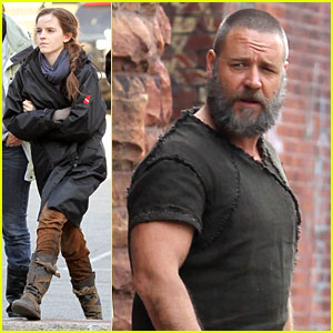 Emma Watson: 'Noah' Set with Russell Crowe!