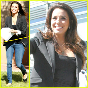 Eva Longoria: Smiling After Mark Sanchez Split