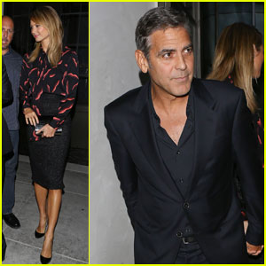 George Clooney &#038; Stacy Keibler: Spago Dinner Date!