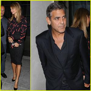 George Clooney & Stacy Keibler: Spago Dinner Date!