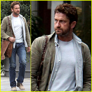 Gerard Butler Bonded with Leven Rambin at Surfing Lessons
