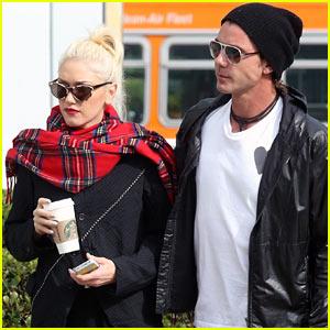 Gwen Stefani & Gavin Rossdale: Studio City Starbucks Stop!