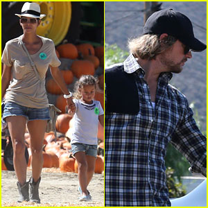 Halle Berry & Gabriel Aubry: Pumpkin Patch with Nahla!