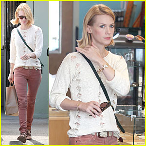 January Jones: Jewelry Shopping in West Hollywood!