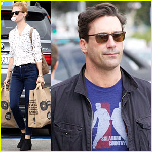 January Jones & Jon Hamm: 'Mad Men' Sixth Season Headed to Hawaii!