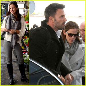 Jennifer Garner & Ben Affleck Jet Out of Paris