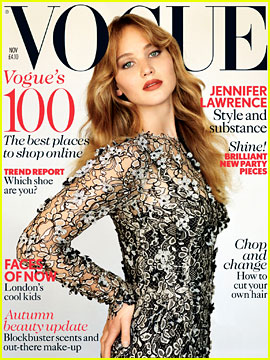 Jennifer Lawrence Covers 'British Vogue' November 2012