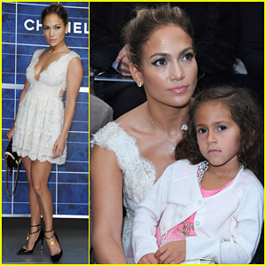 Jennifer Lopez: Chanel Show with Casper Smart & Emme!