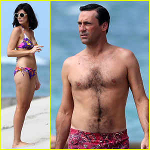 Jon Hamm: Shirtless 'Mad Men' Beach Scenes in Hawaii!