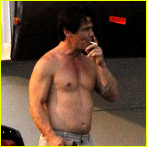 Josh Brolin: Shirtless on 'Oldboy' Set!