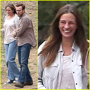Julia Roberts: 'August Osage County' Set with Ewan McGregor!