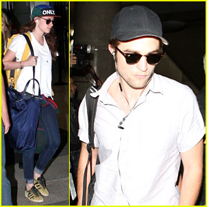 Kristen Stewart & Robert Pattinson: Separate LAX Landings!