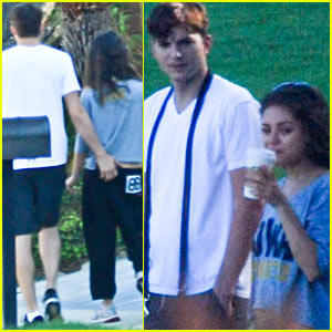 Mila Kunis & Ashton Kutcher: Dog Walking Duo!