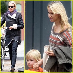 Naomi Watts: Big Apple Bike Ride!