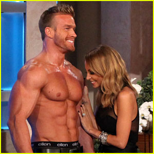 Nicole Richie Sniffs a Hunk for Ellen DeGeneres