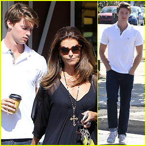 Patrick Schwarzenegger: A Votre Sante Lunch with Mom Maria Shriver!