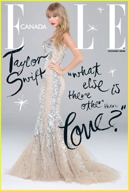 Taylor Swift Sparkles 'Elle Canada' December 2012