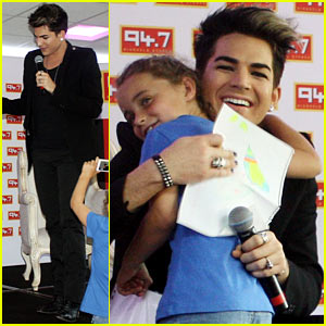 Adam Lambert Hugs Lucky Young Fan in South Africa!