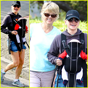 Anna Faris: Family Walk with Baby Jack