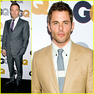 Ben Affleck & James Marsden - GQ Men of the Year Party 2012