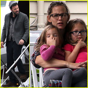 Ben Affleck Visits Jennifer Garner & Kids in New Orleans!