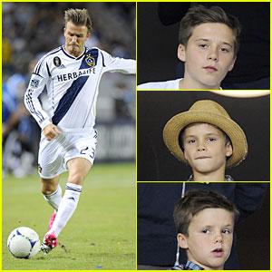 David Beckham: Galaxy Game with the Boys!
