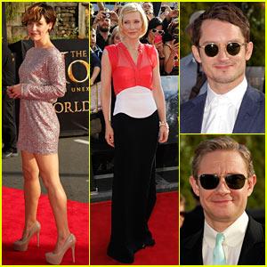 Evangeline Lilly & Cate Blanchett: 'Hobbit: Unexpected Journey' World Premiere!