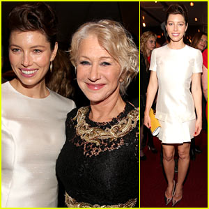 Jessica Biel: 'Hitchcock' After Party with Helen Mirren!