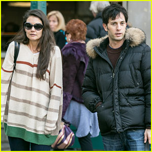 Katie Holmes Commutes to Work with Male Pal