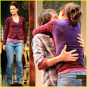 Katie Holmes Kisses Josh Hamilton in 'Dead Accounts' - Pics!