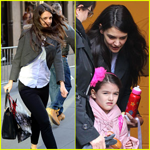 Katie Holmes Shops at Saks with Jeanne Yang