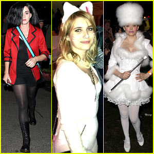 Katy Perry & Emma Roberts: Maroon 5 Halloween Party!
