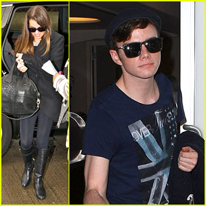 Lea Michele & Chris Colfer Jet to NYC for 'Glee' Filming!