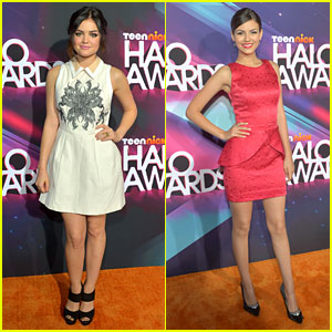 Lucy Hale &#038; Victoria Justice - TeenNick Halo Awards 2012