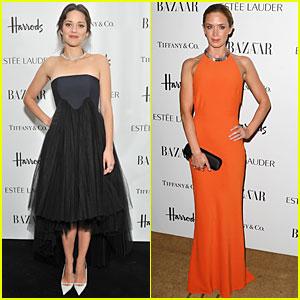 Marion Cotillard & Emily Blunt: 'Harper's Bazaar' Woman of the Year Awards!