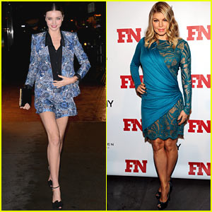 Miranda Kerr & Fergie: Footwear News Achievement Awards!