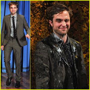 Robert Pattinson: Soaking Wet on 'Jimmy Fallon'!