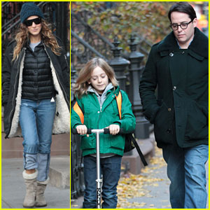 Sarah Jessica Parker & Matthew Broderick: School with the Kids!