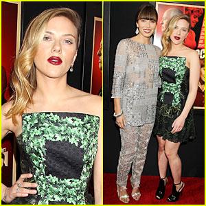 Scarlett Johansson & Jessica Biel: 'Hitchcock' New York Premiere!