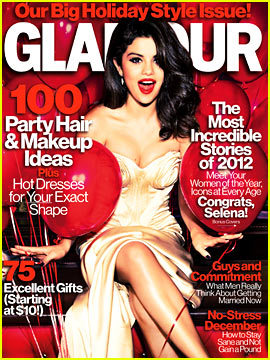 Selena Gomez Covers 'Glamour' December 2012