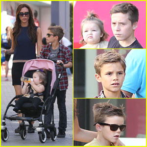 Victoria Beckham: Universal CityWalk with the Kids!