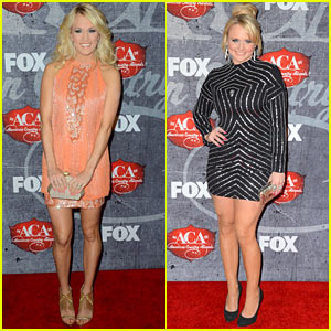 Carrie Underwood & Miranda Lambert - ACAs 2012 Red Carpet